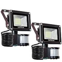 Projecteur LED détecteur de mouvement SAMHUE 10W Lumière led mural IP 65 étanche 6000K 900LM éclairage extérieur idéal pour jardin, cour, couloir, etc