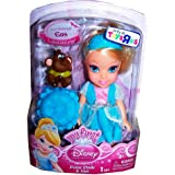 My First Disney Princess Petite Cinderella Toddler Doll and Gus Figure 6 Inches