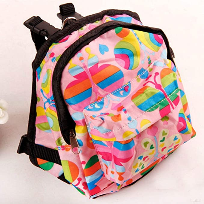 Amazon.com : Cartoon Cute Dog Backpack Canvas Multicolor Pet Dog Carrier Bags Puppy School Bag Chest Backpack Dogs Cats, Blue, S : Pet Supplies