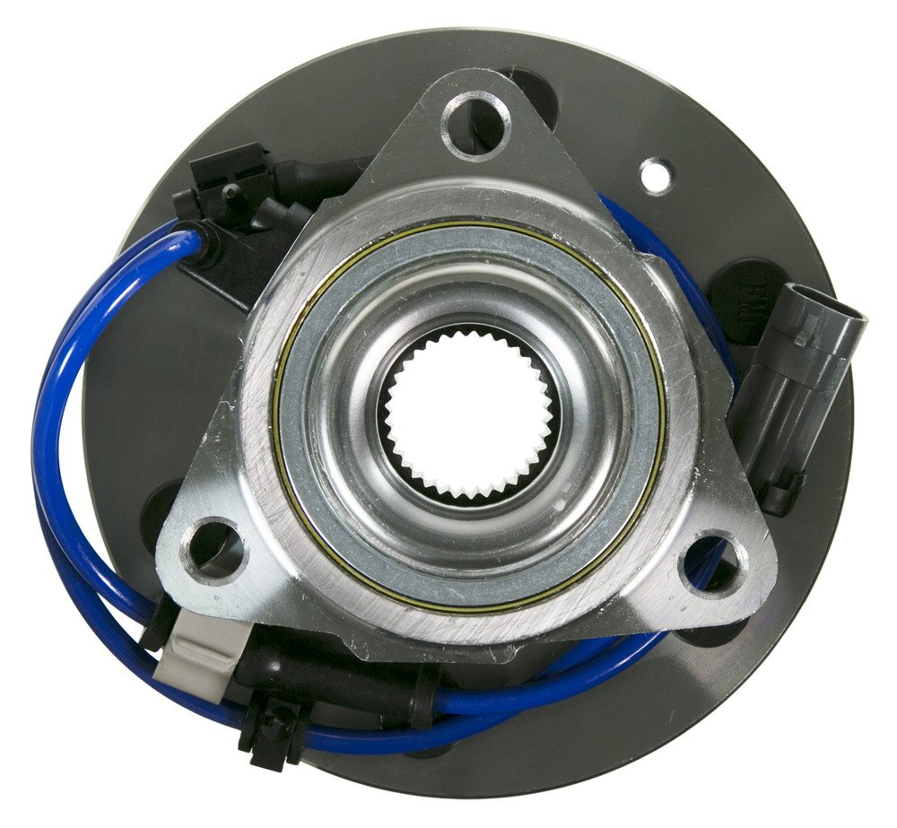 2002 For Cadillac Escalade EXT Front Wheel Bearing and Hub Assembly x 2 Note: Threaded Mounting Flange - 6 Stud - 4X4//AWD Applications Only