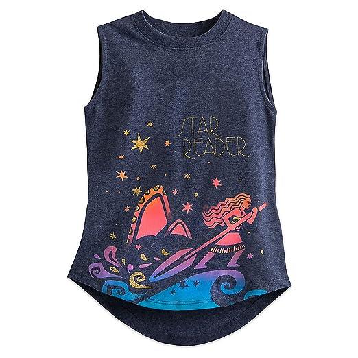 92725cd99 Amazon.com  Disney Moana Tank Tee for Girls Size S (5 6) Navy  Clothing