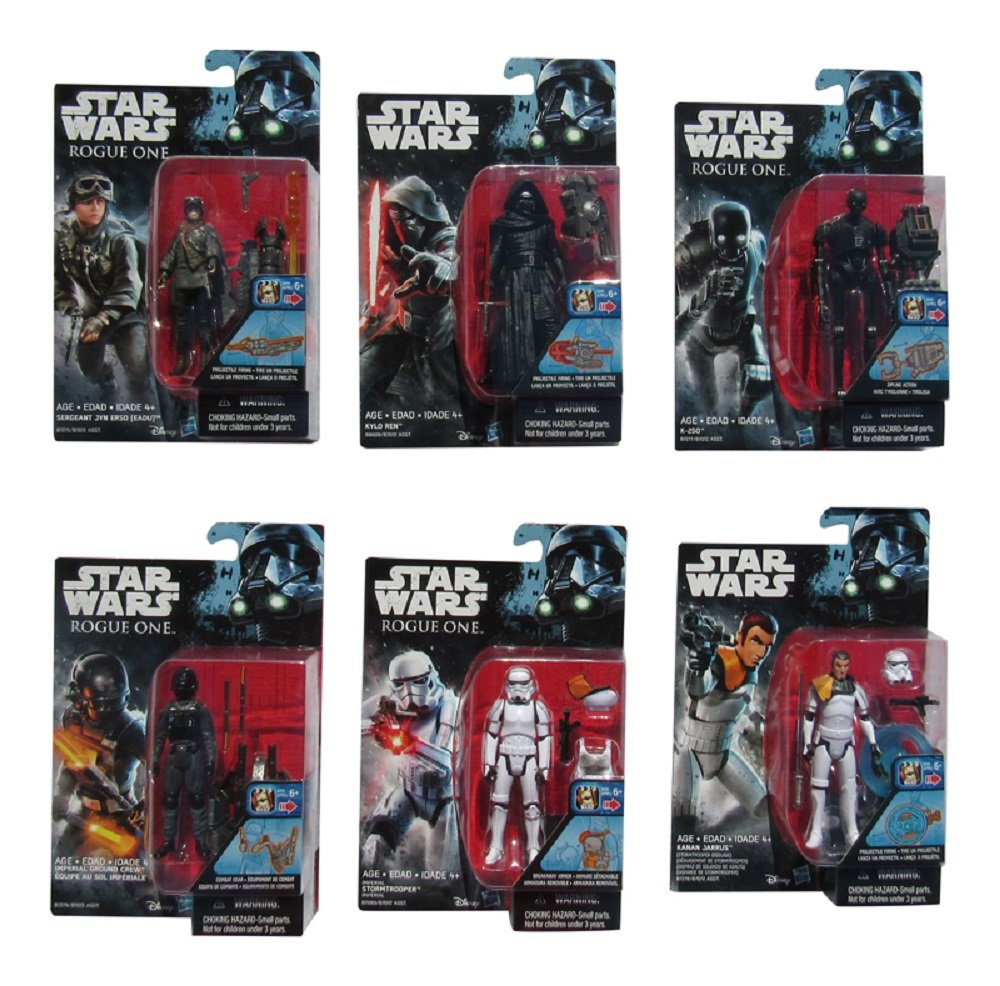 Set of 6 3.75 Inch Star Wars Rogue One Figures 2016 Wave 2