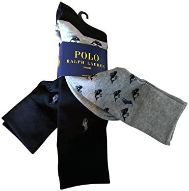 8d39250fa958 Image Unavailable. Image not available for. Color  Polo Ralph Lauren Men s  Dress Socks 3 Pack Black