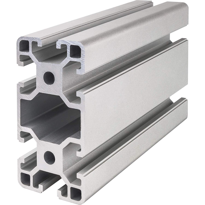 Systemprofil Aluminium Profil 4080 Nut 8 Montageprofil Stangenprofil Strebenprofil Nutprofil Bauprofil 40x80 1000 mm