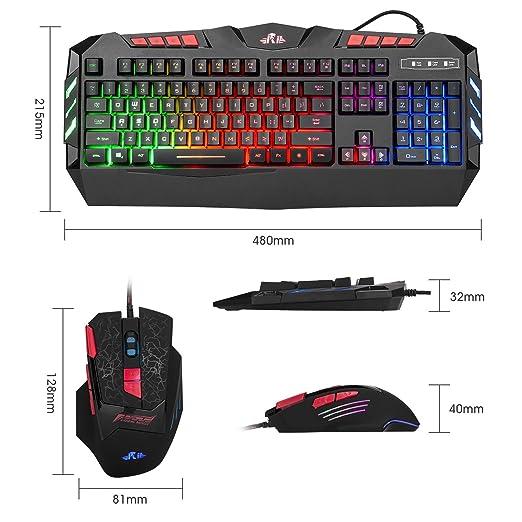 Amazon.com: Rii k63 C Teclado mecánico de gaming, 87 teclas ...