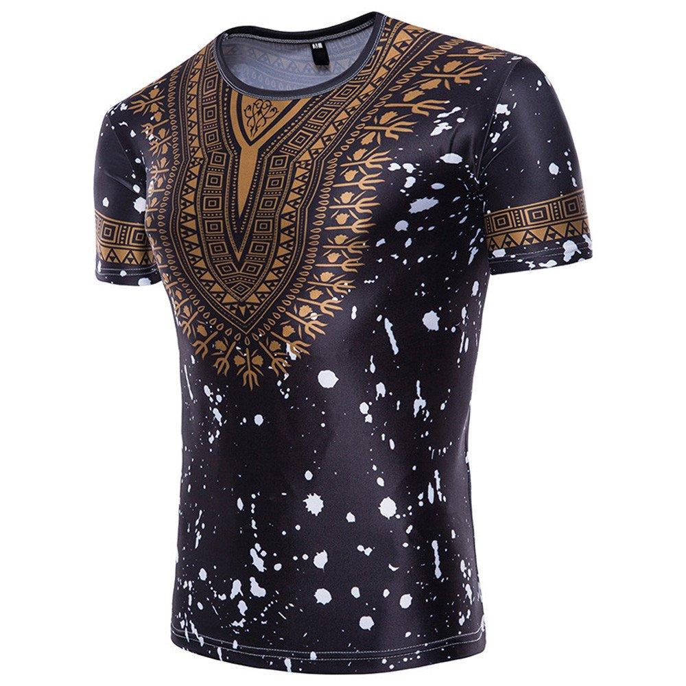 Mens Short Sleeve Ethnic Print T-Shirt Top Men/'s Short Sleeve Ethnic Print T-Shirt Top AopnHQ Mens T-Shirt