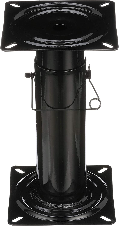 Attwood 91320-ADJ Swivl-Eze Adjustable Pedestal, Height Adjustable 11 ½-17 ½ Inches, For Boat Seat, Black Powder Coated