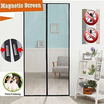 2 PACK Flyzzz Magnetic Screen Door, Mesh Curtain, Mosquito Door Mesh,  Mosquito Net