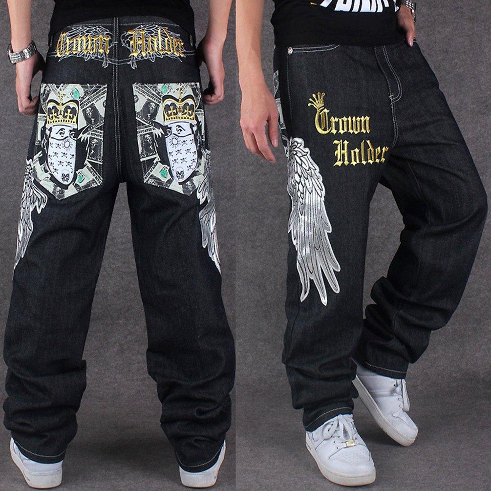 Dexinx Uomo Ricamo Charming Squisito Stampa Jeans Primavera Baggy Denim Hip  Hop Pantaloni Danza  Amazon.it  Abbigliamento 6751d4f87f4b