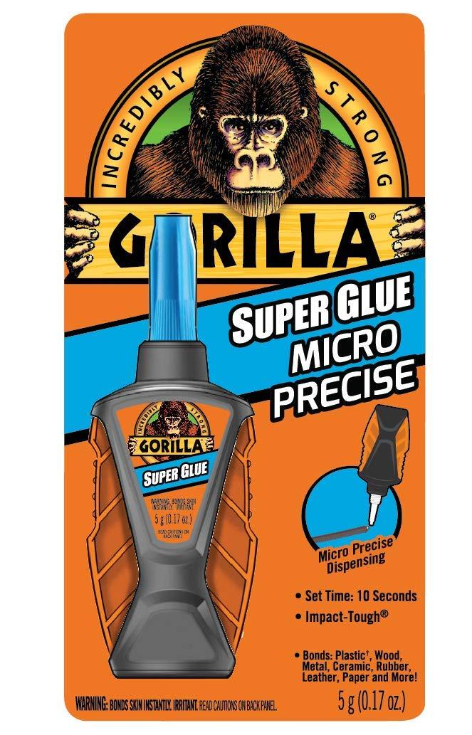 Gorilla 6770002 Micro Precise Super Glue 1 Pack Clear