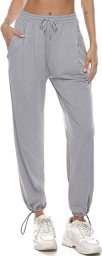 Pantaloni da Donna per Pigiama Sport Jogging Fitness Casual Aibrou Pantaloni Donna Sportivi Donna Pantaloni Sportivi con Tasche e Coulisse