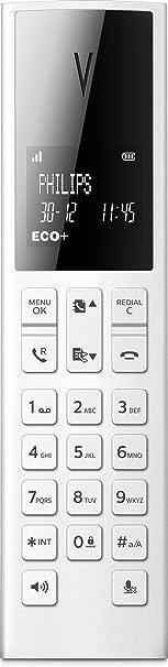 Philips Linea V M3501W - Teléfono inalámbrico diseño con Manos Libres, Bloqueo de Llamadas, Sonido Puro y Claro, Blanco: Amazon.es: Electrónica