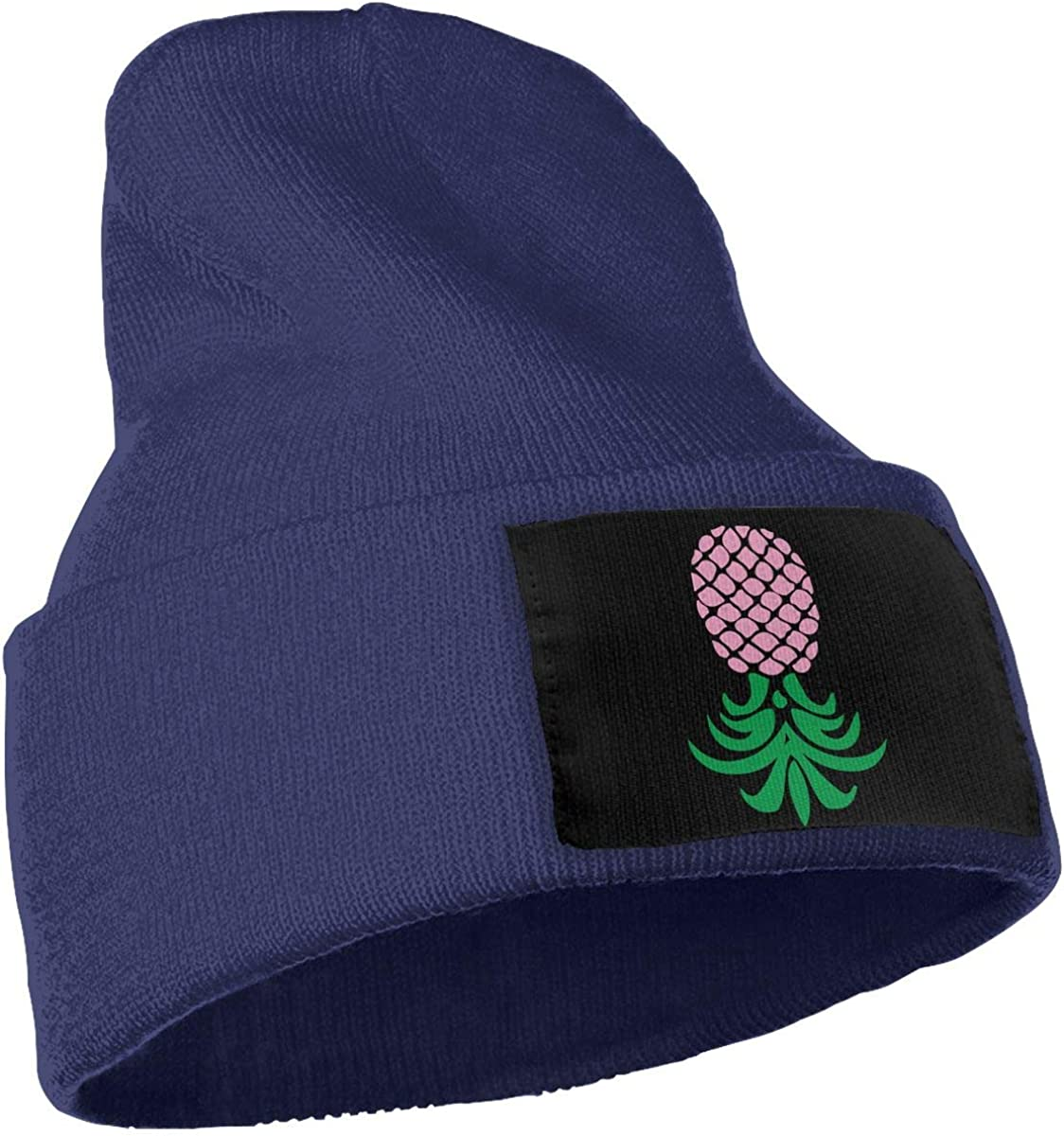 Ydbve81-G Mens and Womens 100/% Acrylic Knitted Hat Cap Upside Down Pineapple Cute Beanie Hat