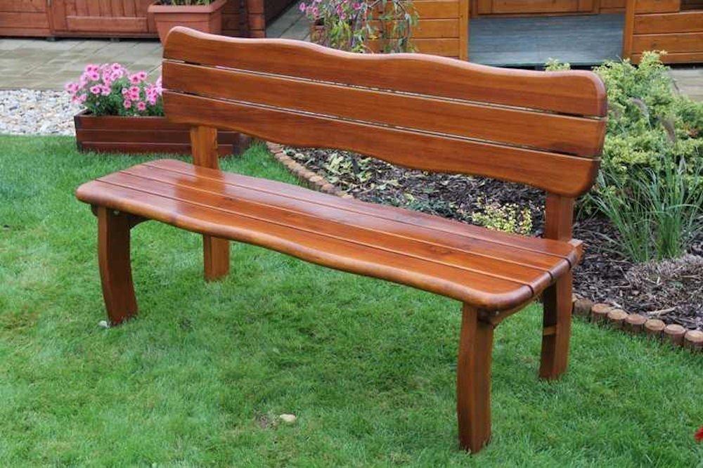 Massivholz Gartenbank Lorit , Kiefer , unbehandelt , B 155 cm , Holzstärke : 42 mm !