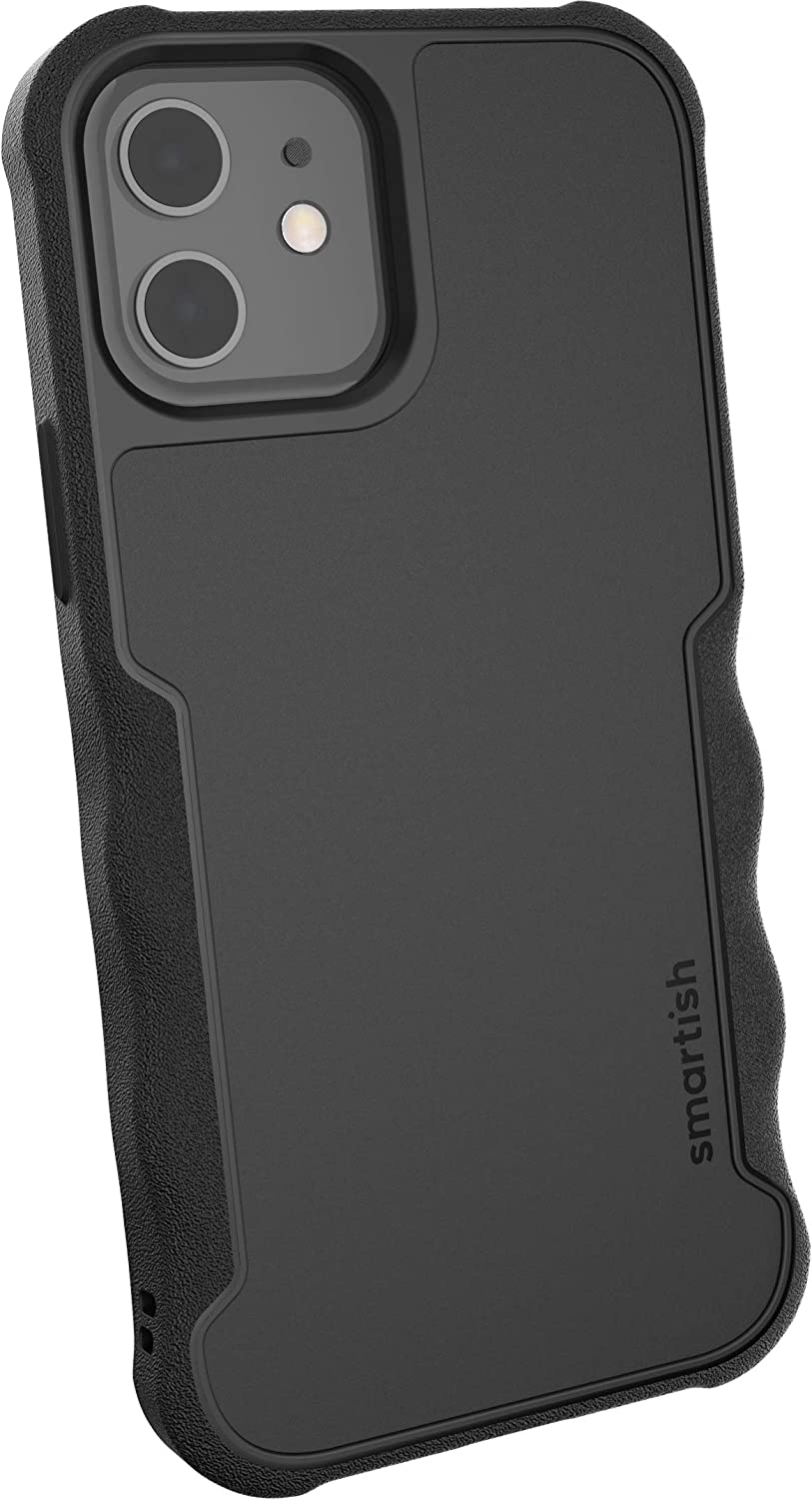 Smartish Armor Black Gripzilla Case for iPhone 12 and 12 Pro
