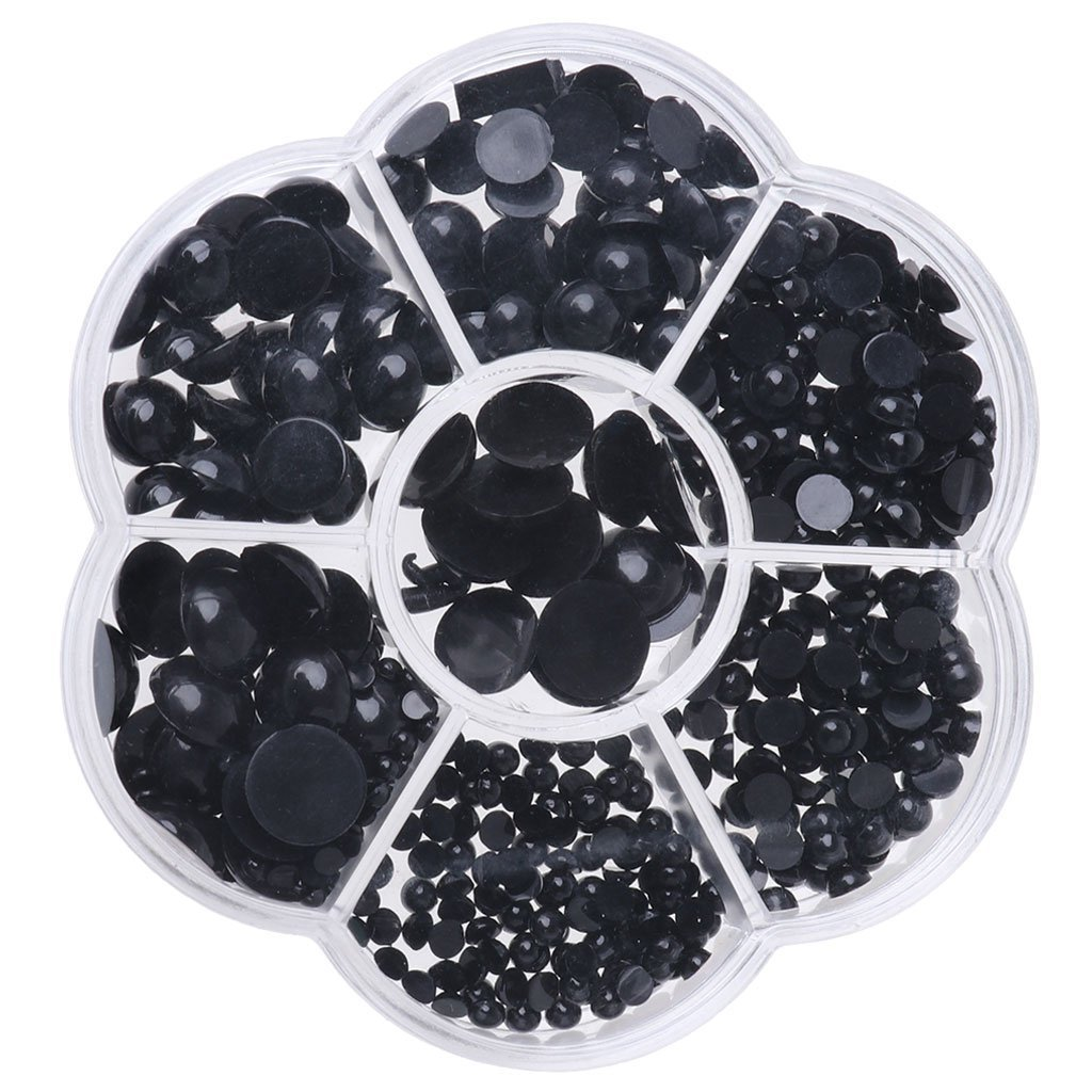 Yevison 510PCS 3-12mm Black Eyes Safety Eyes Doll Toys Bear Dolls Eyes Doll Accessories Durable and Useful