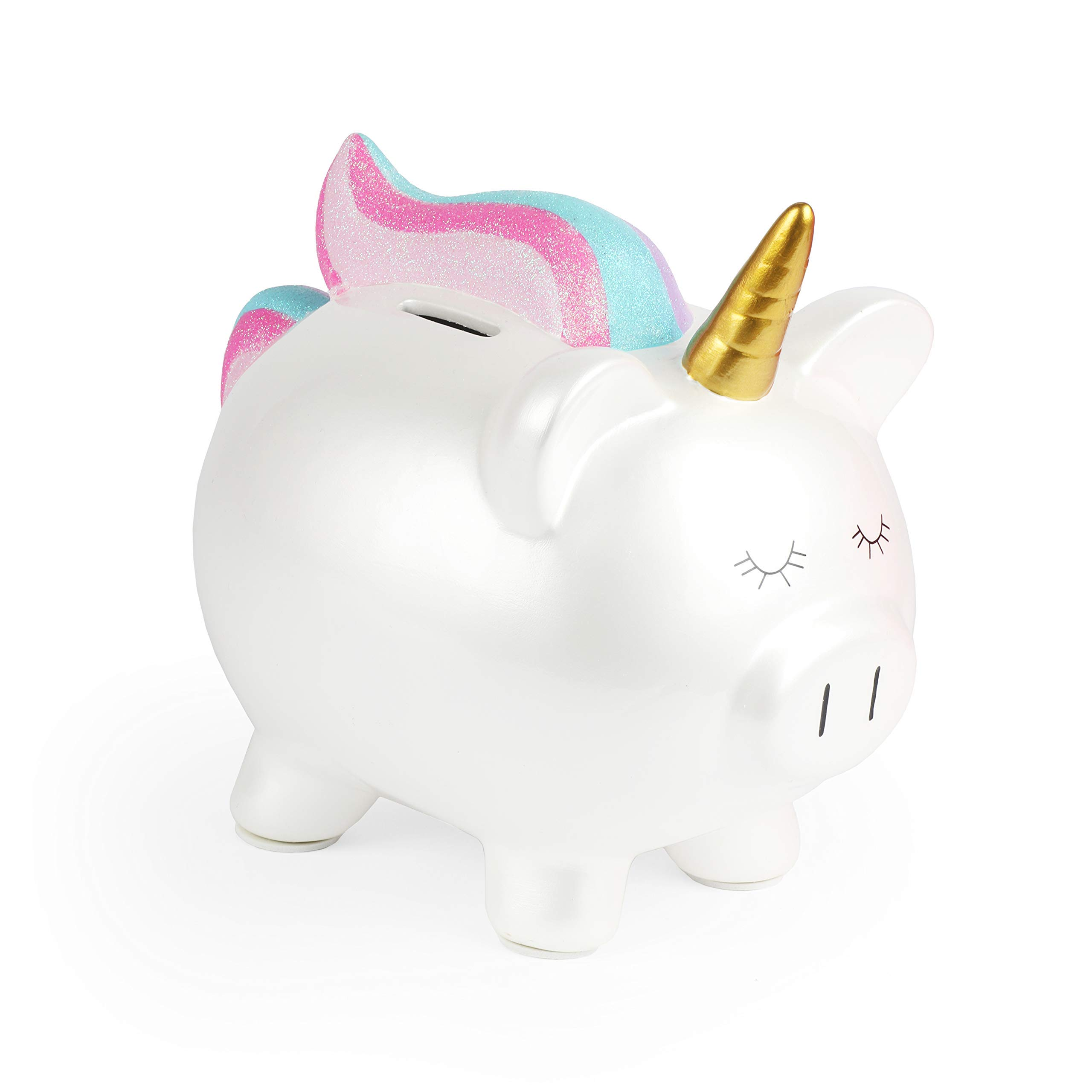 FAB Starpoint Fashion Rainbow White Unicorn Piggy Bank