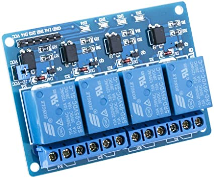 UK SELLER 4 Channel 5V Relay module board for Arduino PIC ARM AVR DSP PLC