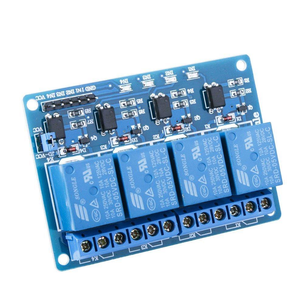 5V Homyl Module de Carte de Relais 4 Canaux pour Arduino Raspberry