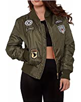 Auxo Women Short Biker Bomber Jacket Zip Up Classic Quilted Coat Outwear Hoodie