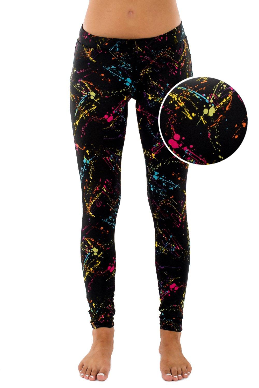 Tipsy Elves Splatter Neon Leggings: Large