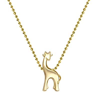Alex woo womens little animals 14ct yellow gold giraffe pendant alex woo womens quotlittle animalsquot 14ct yellow gold giraffe pendant necklace aloadofball Choice Image
