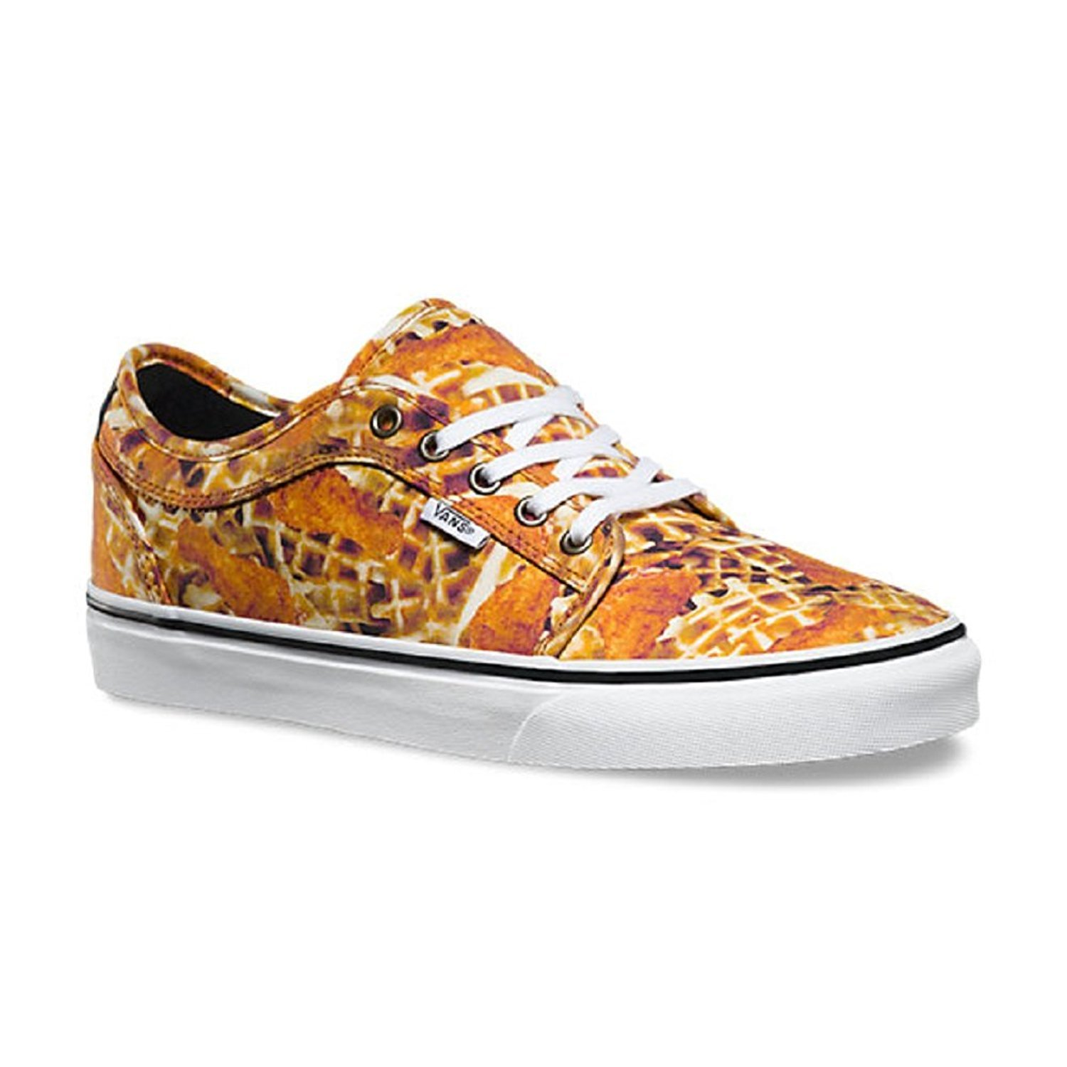 Canvas High Top Sneaker Casual Skate Shoe Mens Womens Chicken and Waffles