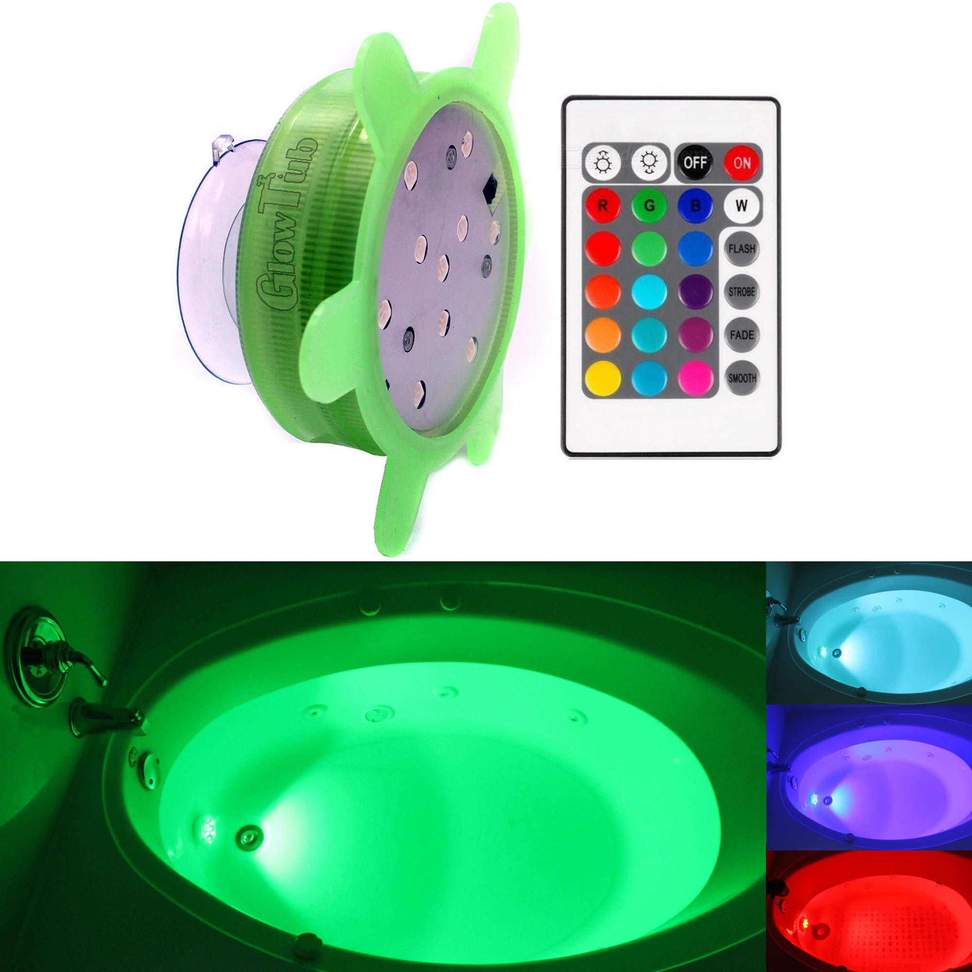 Superieur GlowTub Underwater Remote Controlled LED Color Changing Light For Bathtub  Or Spa   Battery Operated