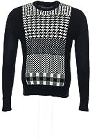 Sean John Men's Black Gradient Crew Neck Sweater