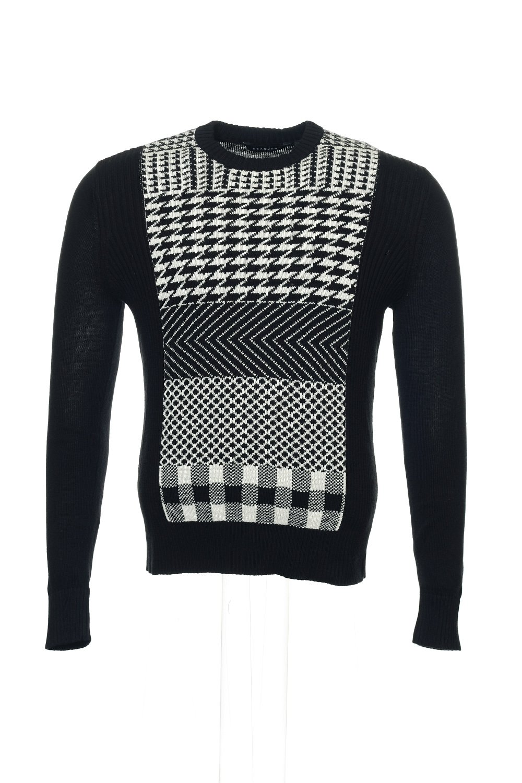 Sean John Black Gradient Crew Neck Sweater, Size 3XLarge by Sean John