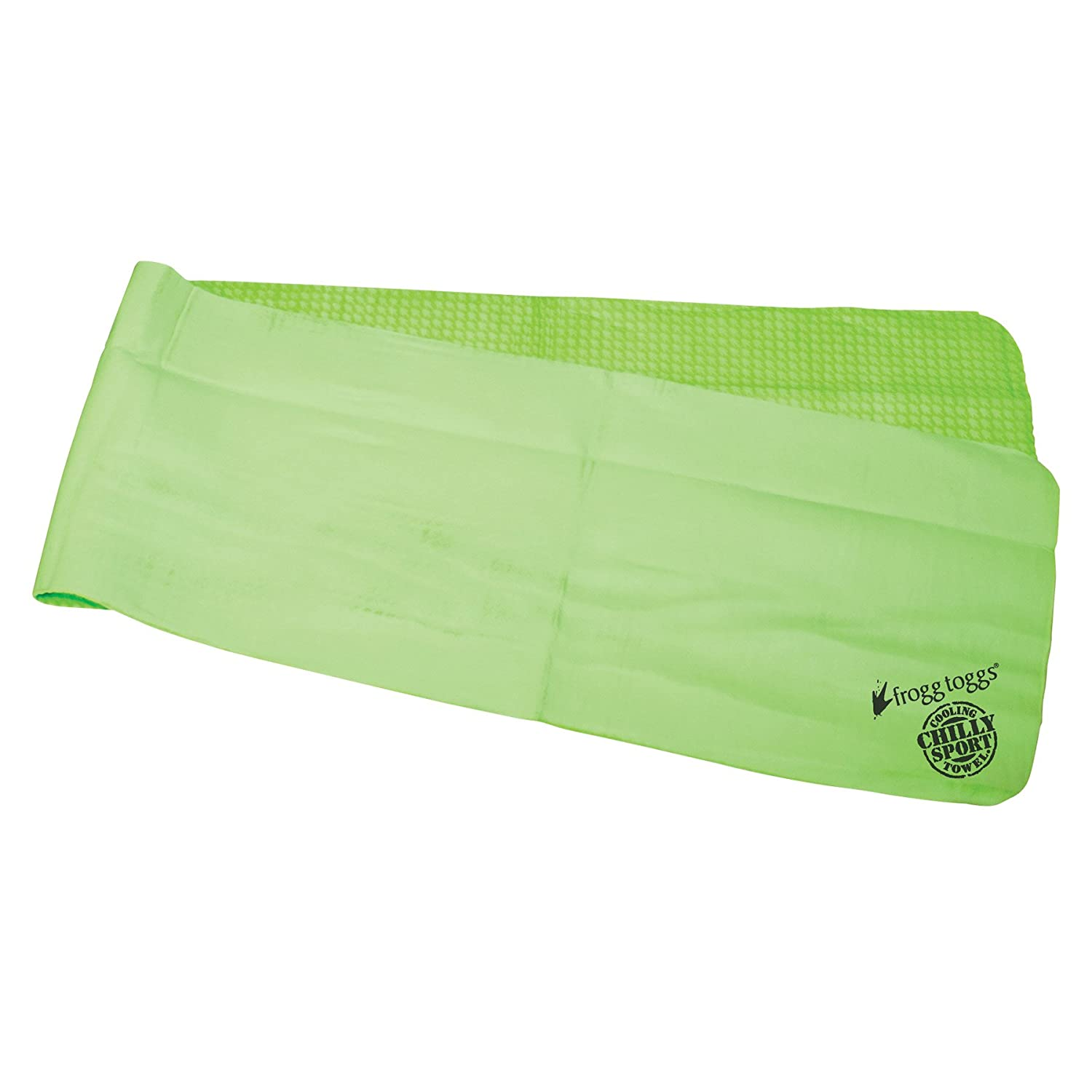 """Frogg Toggs 647484036332 Chilly Sport Cooling Towel, 33"""" Length x 6-1/2"""" Width, Lime Green"""
