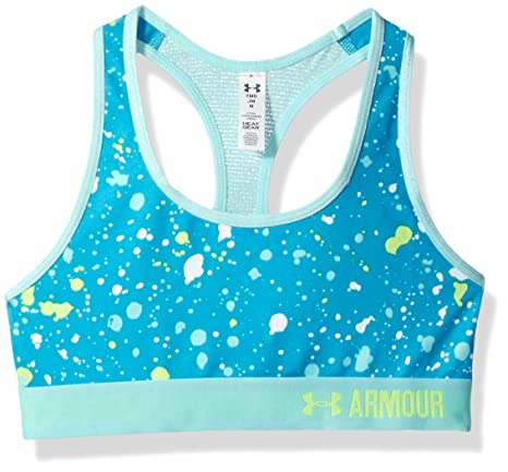 5708d44da8cd0 Amazon.com  Under Armour Girls  HeatGear Armour Printed Sports Bra ...