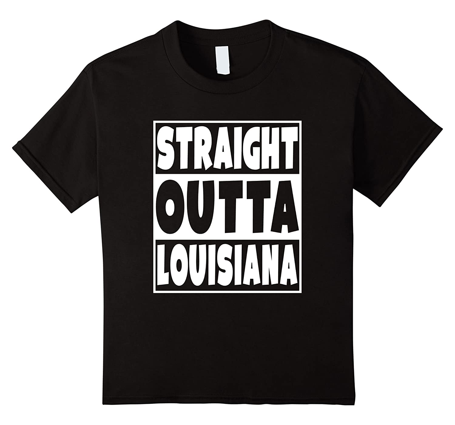 Womens Straight Louisiana T Shirt Louisianians-Tovacu