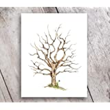 Amazon Price History for:Fingerprint Family Tree 11x14 Print Guest Book Mother's Day Gift