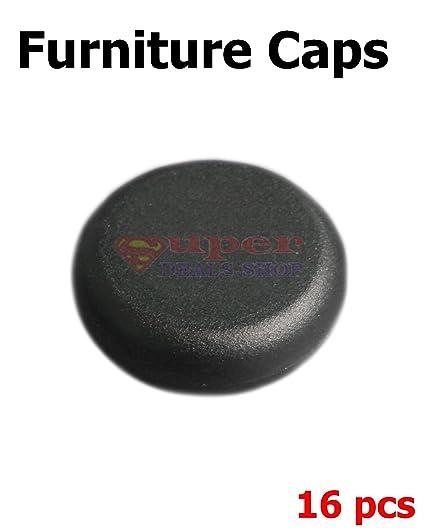 16 Pcs Natural Nylon Black Snap On Chair/Table Leg Insert Pads, Chair