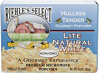 "product image for Riehle's Select Popping Corn ""Hulless"" Natural Lite Microwave Popcorn - 1 Box (3 Packs)"
