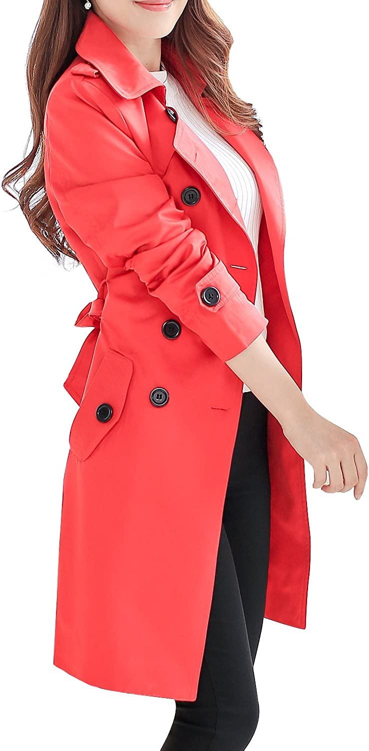 NANJUN Womens Double Breasted Trench Coat