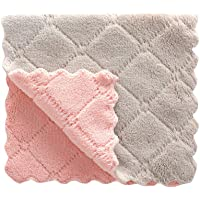 4PCS Washcloths Non Stick Oil Coral Velvet Hanging Hand Towels Kitchen Dishclout Cleaning Cloth Dish Cloth Towel