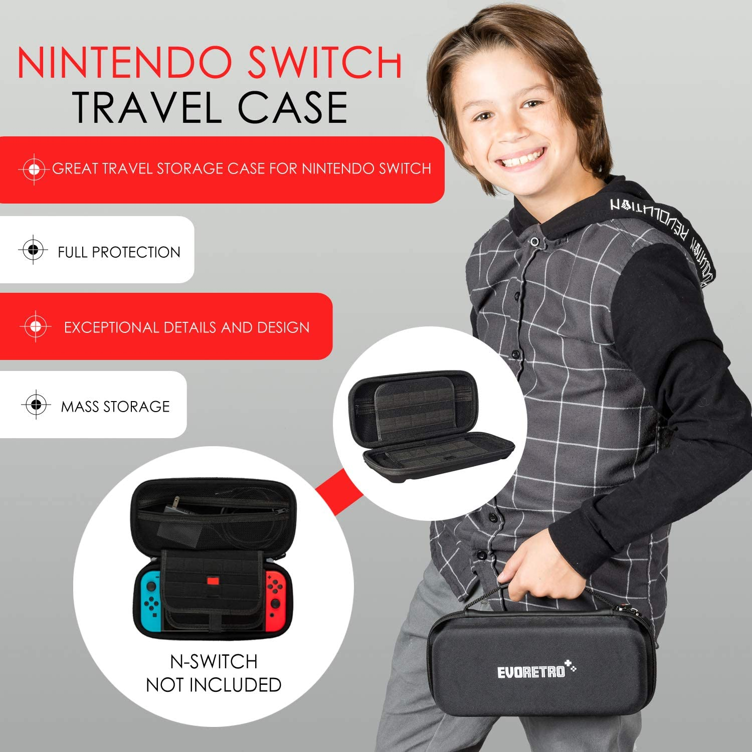 Ultimate Accessories Bundle compatible for Nintendo Switch - 21 in 1 Essential Kit including (Tempered Glass Screen Protector, Travel Carrying Case, Joy Con Charging Dock Station, Grip, and more): Electronics