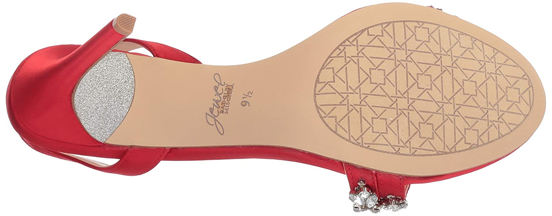 M100 M US red Jewel Badgley Mischka Womens JAVA Sandal
