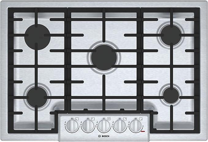 Bosch Range Top >> Bosch 800 Series 30 Stainless Steel 5 Burner Gas Cooktop