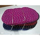 Home Leader Handicraft Style Eco Series Cotton Blend Door Mat Colour - Multicolour