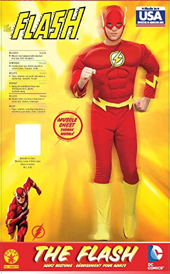 Amazon.com Rubieu0027s Costume Dc Heroes and Villains Collection Deluxe Muscle Chest Flash Costume(Adult) Toys u0026 Games  sc 1 st  Amazon.com & Amazon.com: Rubieu0027s Costume Dc Heroes and Villains Collection Deluxe ...