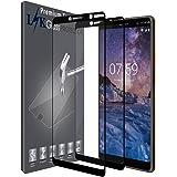 L&K [2 Pack] Nokia 7 Plus Pellicola Protettiva, LK [Copertura Completa] Protezione Schermo Vetro Temperato Screen Protector [Garanzia di Sostituzione a Vita] - Nero