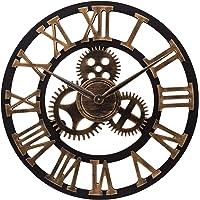 ufengke Reloj de Engranajes de Pared Grande Vintage