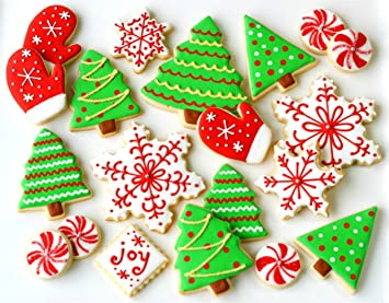 Keniao Christmas Cookie Cutter Set Winter Holiday Biscuit Fondant Cutter 12 Piece Snowman Candy Cane Christmas Tree Gingerbread Man