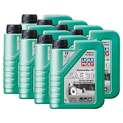 8 x Liqui Moly 1264 Cortacésped de aceite SAE 30 antifricción API ...