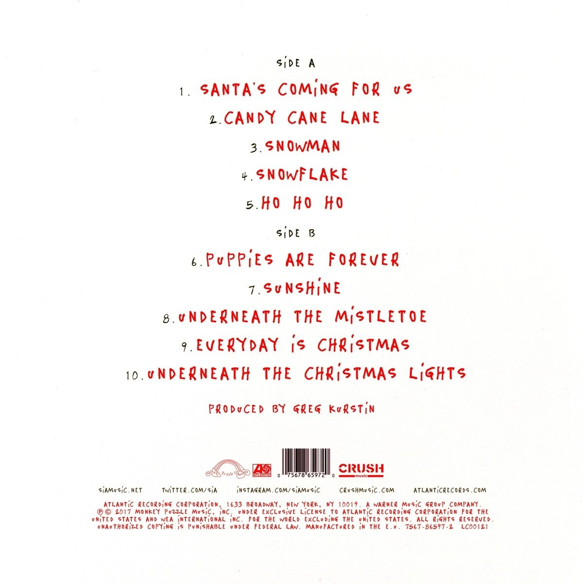 Everyday Is Christmas (Vinyl): Sia: Amazon.ca: Music