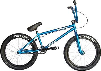 Tribal Spear Bicicleta BMX - Mate Vivid Azul: Amazon.es: Deportes ...