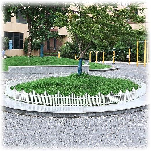 ZHANWEI Plástico Borde De Jardín Esgrima, Ribete De Jardín Decorativo Blanco para Paisaje De Césped Interior Y Exterior, 3 Tamaños (Color : 80x53cm, Size : 10 PCS): Amazon.es: Jardín